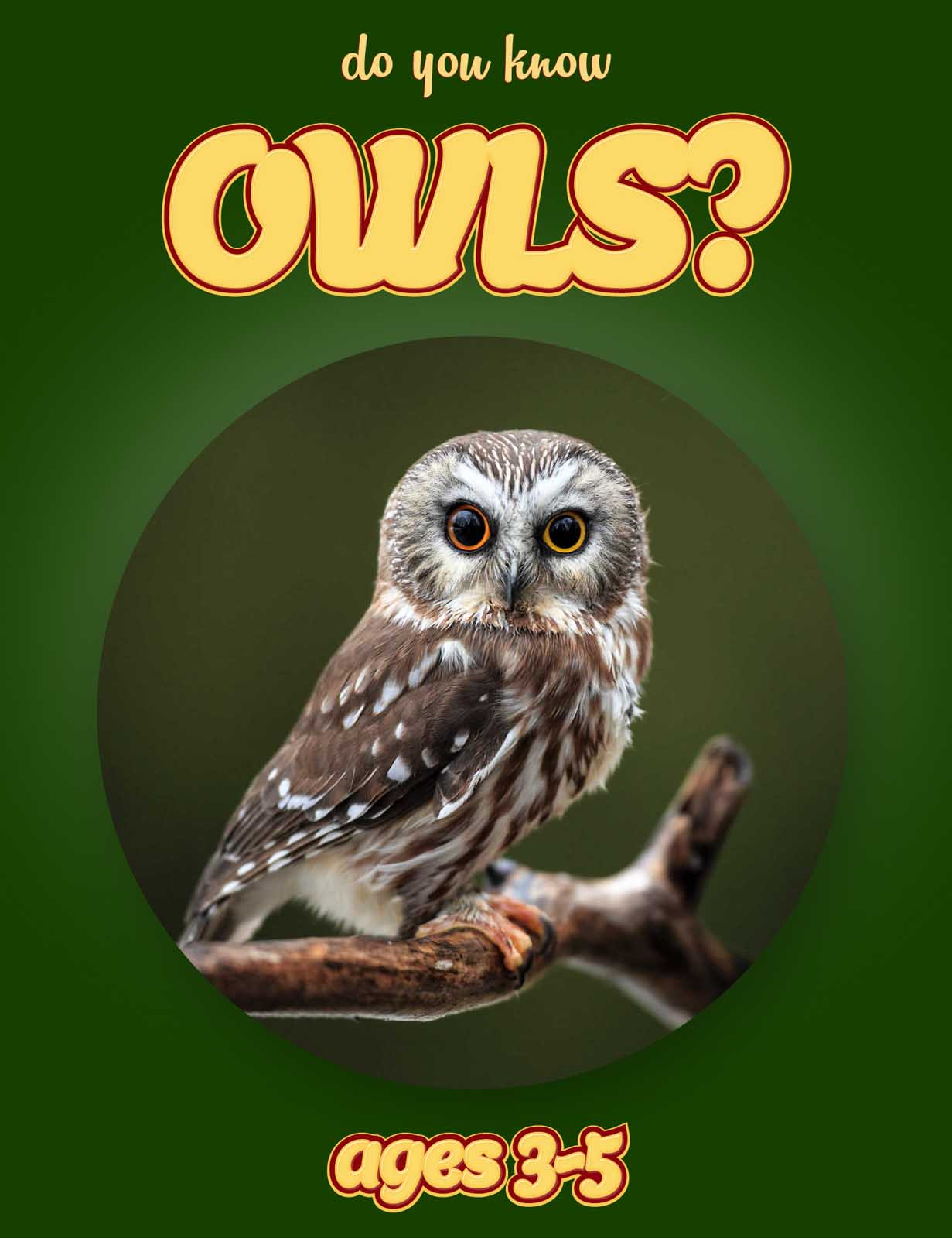 Owl Facts for Kids | Kids Nonfiction Book | Clouducated | Ages 3-5