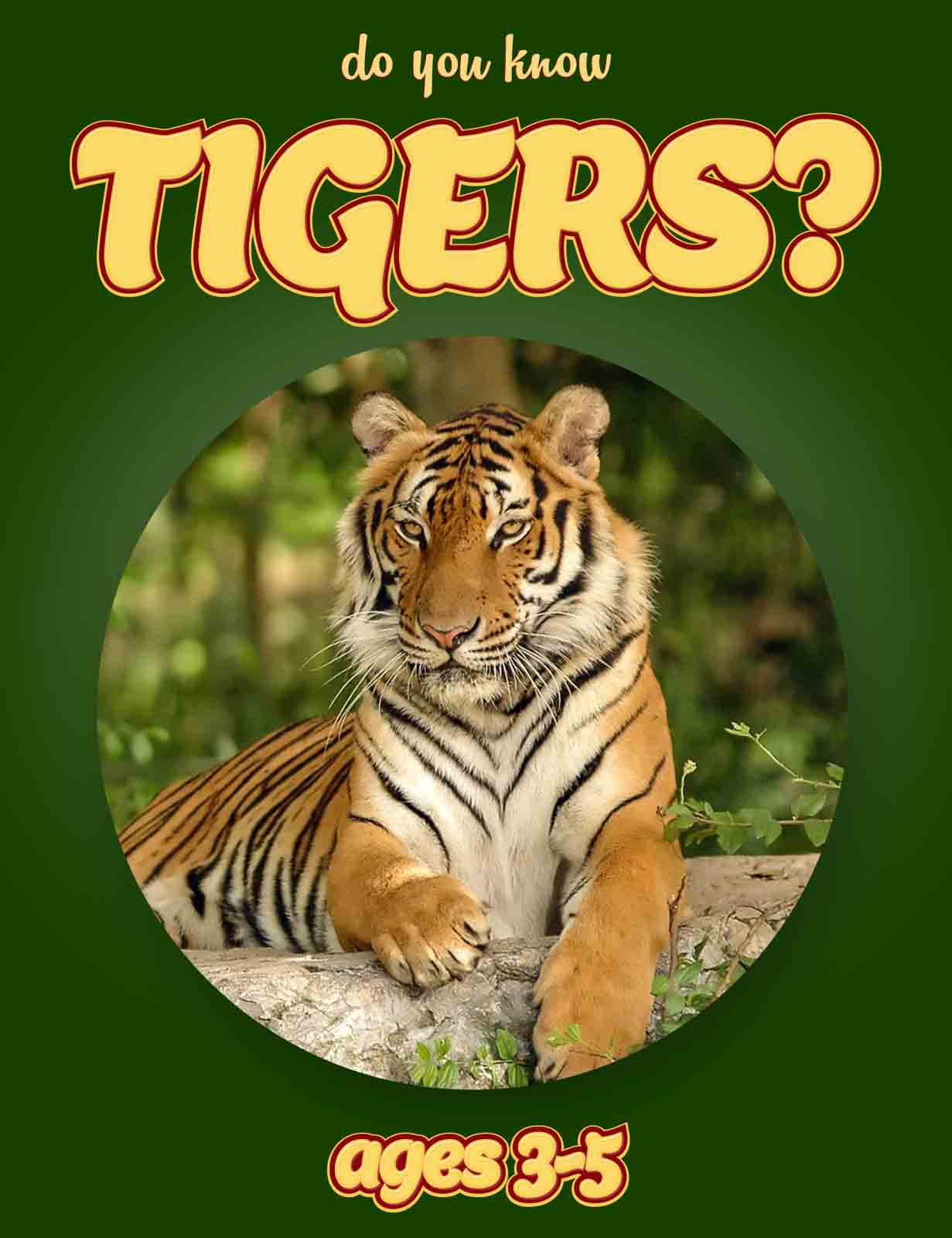 Tiger Facts for Kids | Kids Nonfiction Book | Clouducated | Ages 3-5